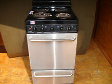 SS Stainless Steel Premier Electric Stove Oven Range 20 inch 20