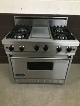 VIKING VGIC3674GSS 36  Professional Gas Range 4 Burner Griddle Stainless Steel