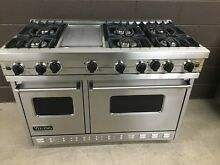 Viking 48  PRO Range Stove VGIC4876GSS Gas 6 Burners   Griddle Stainless Steel