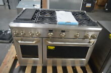 GE ZDP486NDPSS 48  Stainless Pro Style Dual Fuel Range NOB  28149 HL