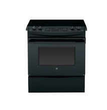 GE JS750DFBB 30  Black Slide In Electric Range NIB  28206 HL
