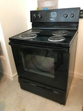 Whirlpool electric stove black