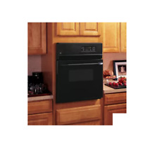 GE JRS06BJBB 24  Black Single Electric Wall Oven NOB  28398 HL