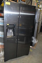 Samsung RS25H5111SG 36  Black Stainless Side by Side Refrigerator NOB  13035 CLW