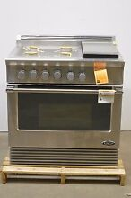 DCS Professional Series RDV364GLN 36  Stainless Pro Style Dual Fuel Range