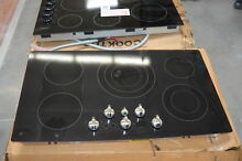 GE PP962EHES 36  Black 5 Burner Built In Electric Cooktop NOB  28466 HL
