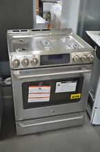 GE CGS985SETSS 30  Stainless Slide In Gas Convection Range NOB  28657 HL