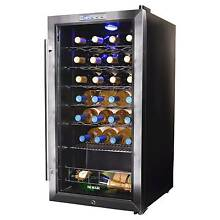 Wine Refrigerator  27 Bottle Compressor Electronic Thermostat Stainless Steel