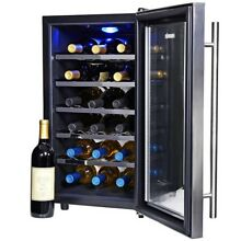 Wine Cooler Refrigerator Fridge Thermoelectric Free Standing Under Cabinet Black