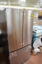 GE GNE25JSKSS 33  Stainless French Door Icemaker Refrigerator NOB  29071 CLW