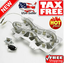 Dryer Heating Element w  Thermostat Fuse Heater Repair Part Samsung DC47 00019A
