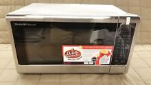 Sharp Carousel 1 4 cu  ft  1000W Microwave Brushed Stainless Steel SMC1442CS