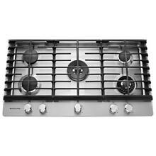 KitchenAid KCGS956ESS 36  Stainless Gas 5 Burner Cooktop NOB  29373