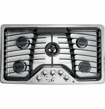 GE PGP986SETSS 36  Stainless Natural Gas 5 Burner Cooktop W  Griddle NOB  29382