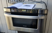 SHARP KB6524PS 24  Built in Microwave Drawer Oven in Stainless Steel 1 owner