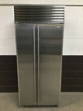 Sub Zero 661 S Refrigerator Freezer Side by Side Stainless Steel