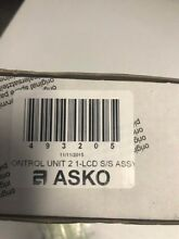 Asko Dishwasher Control 493205