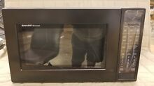 SHARP CAROUSEL CONVECTION MICROWAVE OVEN 1 5 CU  FT  900W SMC1585BB   Black