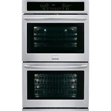 Frigidaire Gallery Stainless Steel 27  Double Wall Oven Convection FGET2765PF