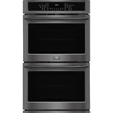 Frigidaire Gallery Black Stainless 30  Double Wall Oven Convection FGET3065PD