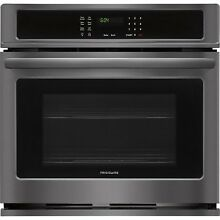 Frigidaire Black Stainless 30  Single Wall Oven Electric FFEW3026TD