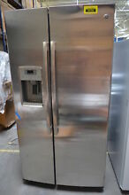 GE PZS22MSKSS 36  Stainless Side by Side Refrigerator NOB  29635 HL