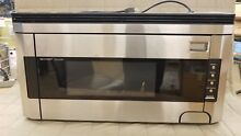 Sharp R 1514 1 1 2 Cubic Foot 1000 Watt Over the Range Microwave  Stainless