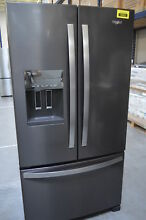 Whirlpool WRF555SDHV 36  Black Stainless French Door Refrigerator  29562