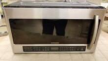 Samsung ME21H706MQS 2 1 cu  ft  Over the Range Microwave Multi Sensor Cooking