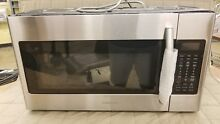Samsung ME18H704SFS 1000W 1 8 cu  ft  Over the Range Microwave Oven  Dented
