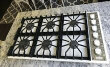 Fully Tested Viking  36  Professional 6 Burner Natural Gas Cooktop  White