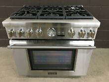 Thermador PRD366JGU 36  Dual Fuel Range Pro Grand 6 Burners Stainless
