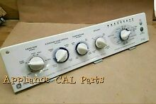 175d3695g009 GE Washer console with Control Board and knobs