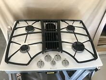 30  Jenn Air   Atrial Gas Downdraft Cooktop   Included Blower Fan Motor  White