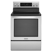 KitchenAid KERS202BSS 30  Stainless Electric Even Heat Range NIB  4418 CLW