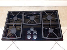 DACOR MODEL SGM365B 36  LP PROPANE GAS 5 BURNER COOKTOP BLACK