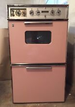 Vintage   antique 1950 s GE  PINK  electric double oven