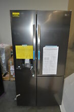 LG LSXS26386D 36  Black Stainless Side by Side Refrigerator NOB  27626 HL