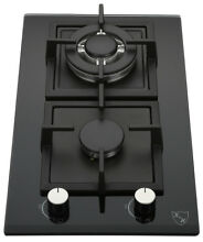 K H 2 Burner 12  LPG Propane Gas Glass Cooktop 2 GCW LPG