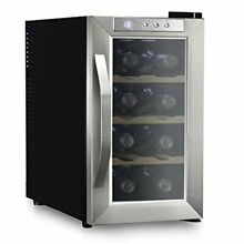 Stainless Steel Ivation 8 Bottle Thermoelectric Wine Cooler Chiller