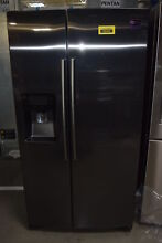 Samsung RS25H5111SG 36  Black Stainless Side by Side Refrigerator NOB  30766 CLW