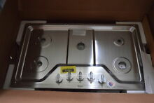 Whirlpool WCG51US6DS 36  Stainless 5 Burner Gas Cooktop NOB  30849 HRT