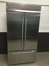KitchenAid 42   Built In Stainless Steel French Door Refrigerator KBFN502ESS