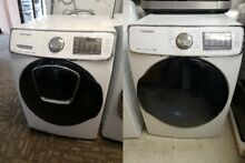 SAMSUNG FRONTLOAD WASHER AND GAS DRYER SET WHITE WITH 1 YEAR WARRANTY