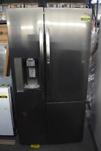 LG LSXS26386D 36  Black Stainless Side by Side Refrigerator NOB  31976 MAD