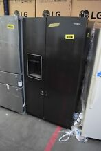 Whirlpool WRS588FIHV 36  Black Stainless Side by Side Refrigerator  32015 HRT