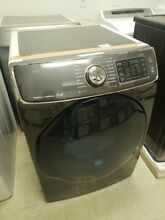 SAMSUNG 7 5 CF 14 CYCLE GAS DRYER WITH STEAM BLACK STAINLESS STEEL DV50K7500GV