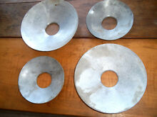 Lot of 4 Vintage Thermador Cooktop  Burner Drip Pans 2 each of 8