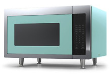 Big Chill Retro Microwave 1 6 cu  ft  1200 watts Turquoise