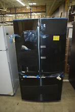 GE GFD28GBLTS 36  Black Stainless French Door Refrigerator NOB  32499 HRT